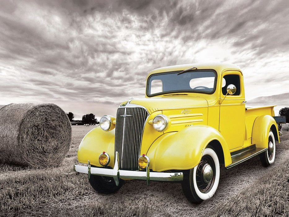 Voiture de Collection Chevy Pick-Up 1937 - Kit Broderie Diamant - Club de Brodeuses