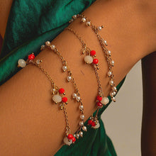 Load image into Gallery viewer, Bracelets 2 in 1 with Rock Crystal and Synthetic Pearl bracelet De Lux Jewellery