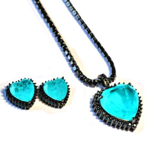 BZ-001 jewelry set De Lux Jewellery Aqua