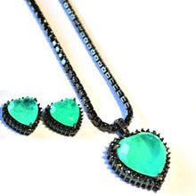 Load image into Gallery viewer, BZ-001 jewelry set De Lux Jewellery Green
