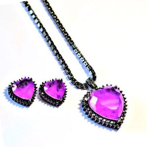 BZ-001 jewelry set De Lux Jewellery Purple
