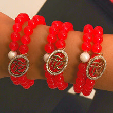 Charger l'image dans la galerie, Double Bracelets with Red Tiger Eye Stone bracelet De Lux
