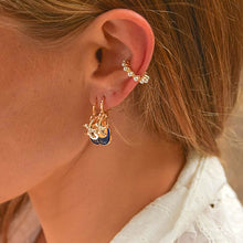 Load image into Gallery viewer, Drop Earrings with Sea Star and Crystal earrings De Lux Jewellery
