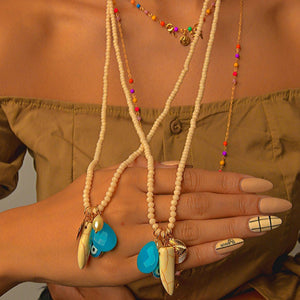 Long-Double Necklaces with Mixing Pendant necklace De Lux