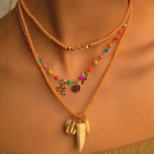 Load image into Gallery viewer, Long-Double Necklaces with Mixing Stone Pendant necklace De Lux