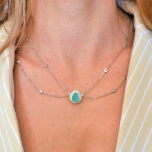 Load image into Gallery viewer, Necklaces with Aqua Stone Pendant necklace De Lux
