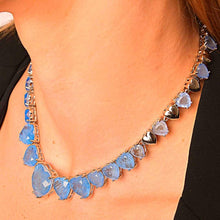 Load image into Gallery viewer, Necklaces with Full Hearth Fusion Stone necklace De Lux Blue