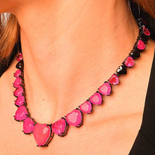 Load image into Gallery viewer, Necklaces with Full Hearth Fusion Stone necklace De Lux Pink