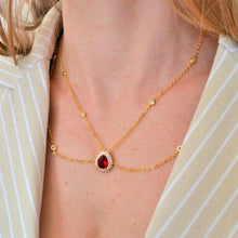 Load image into Gallery viewer, Necklaces with Red Crystal Pendant necklace De Lux