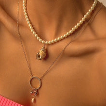 Load image into Gallery viewer, Necklaces with Synthetic Pearl and Seashell Pendants necklace De Lux