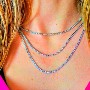 Necklaces with White Crystal Sale De Lux