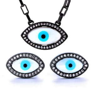 TS-007 jewelry set De Lux Jewellery 45cm Black Plated