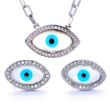 Load image into Gallery viewer, TS-007 jewelry set De Lux Jewellery 45cm White Plated
