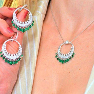 WC-020 jewelry set De Lux Jewellery Green