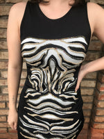 Vestido Bordado Animal Print