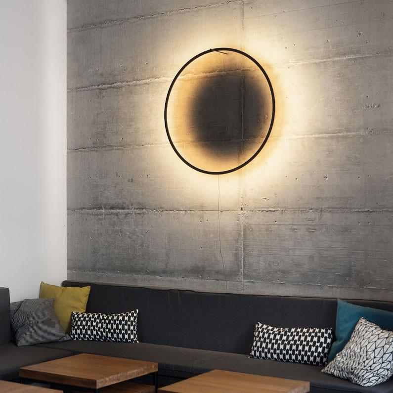 Eclipse lamp - burned wood