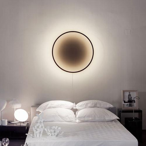 Eclipse lamp - natural wood