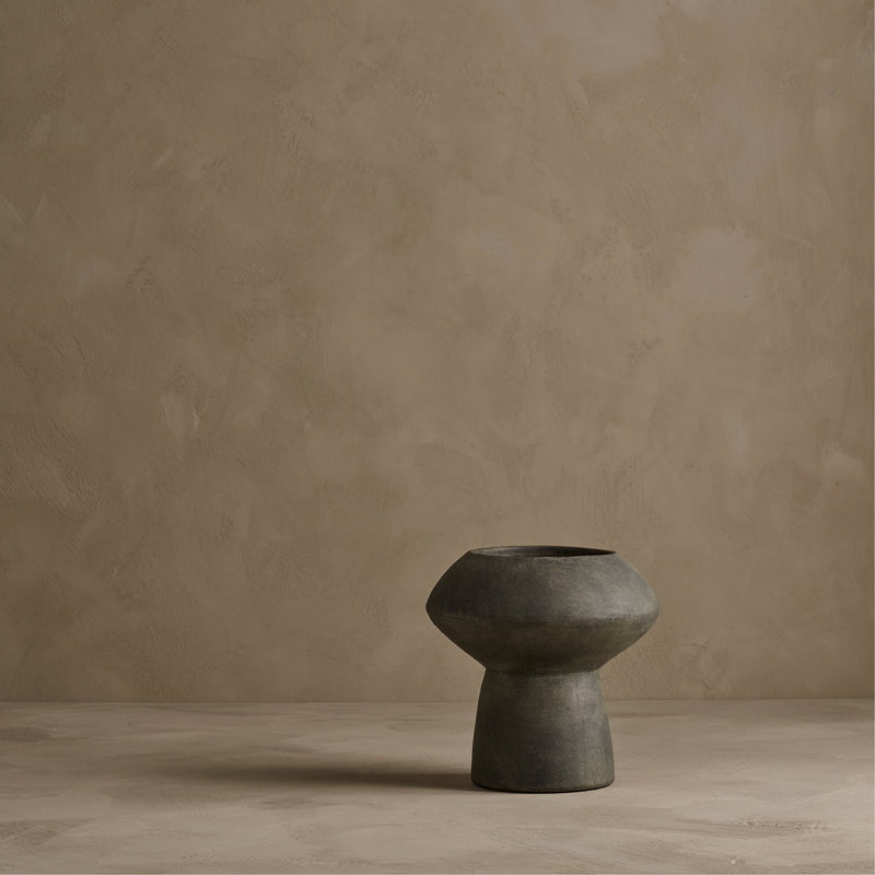 Sphere Vase, Fat - Dark Grey