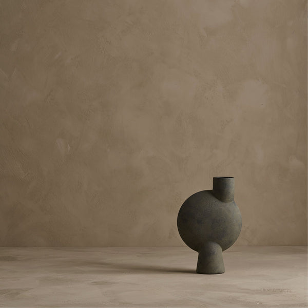 Sphere vase bubl - midi - dark grey