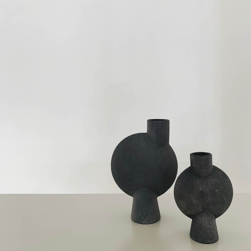 sphere vase bubl mini dark grey