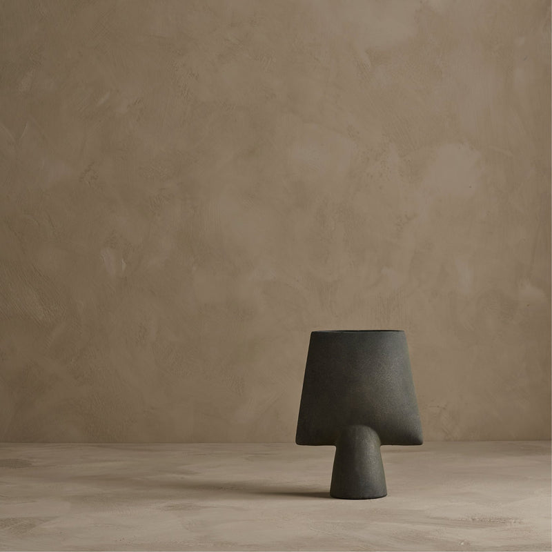 Sphere Vase, Square Mini - Dark Grey