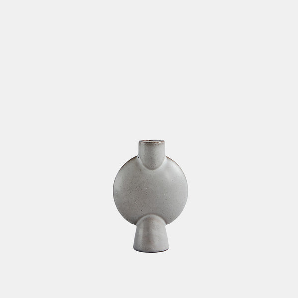 Sphere vase bubl - mini - grey glazed