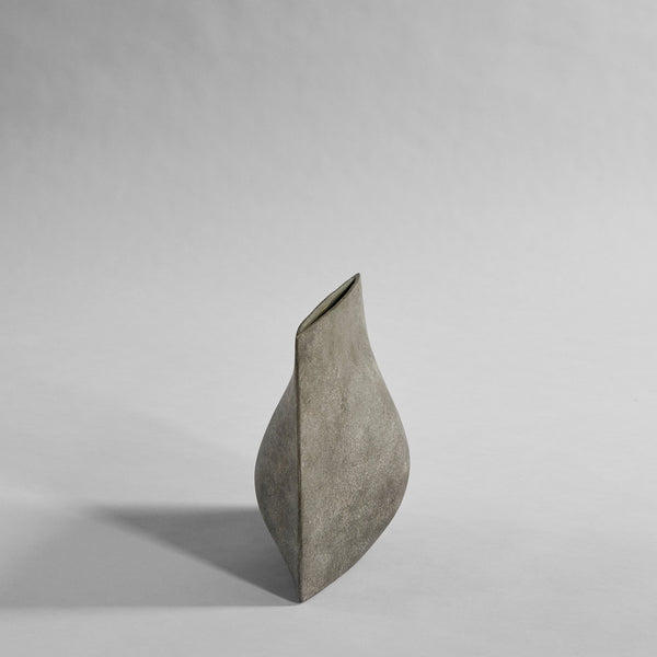 Origami vase mini - dark grey