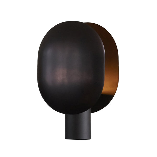 clam table lamp burned black