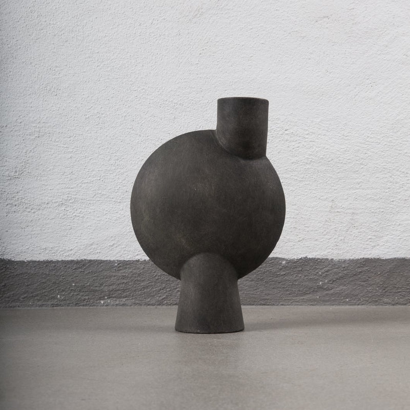 Sphere Vase, Bubl Midi - Dark Grey