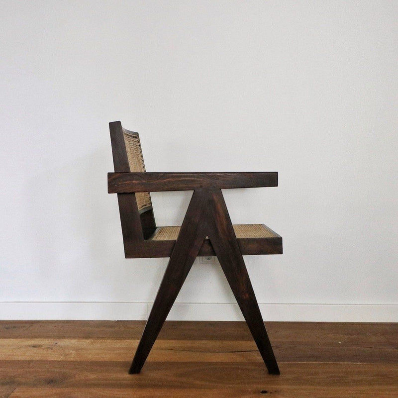 Office King Chair - Darkened teak