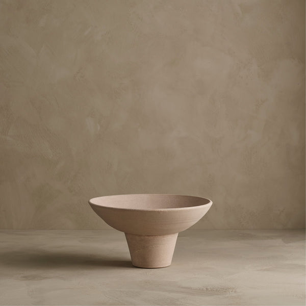 Sphere bowl, midi - light red