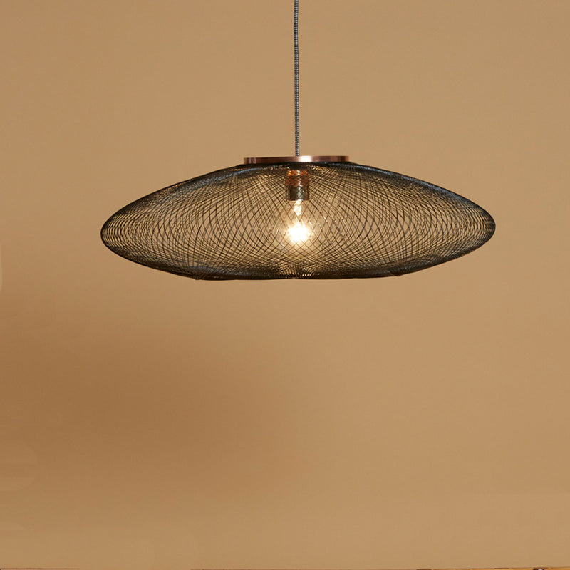 FIBER PATTERN LAMP (CHARCOAL BLACK)