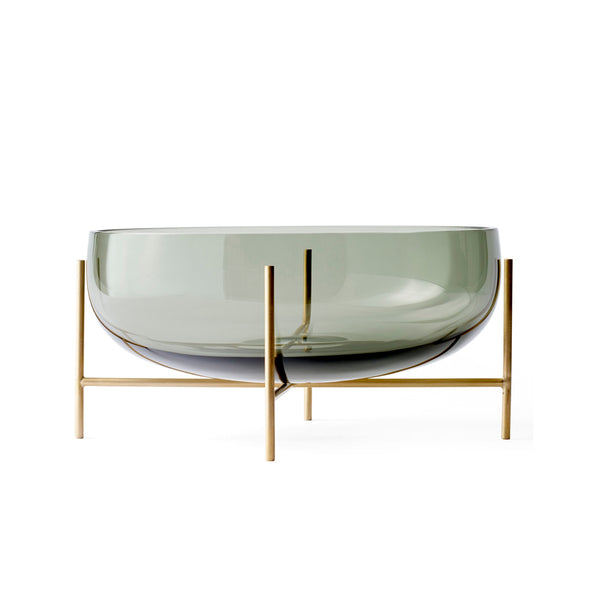 Echasse Bowl, Smoke/Brushed Brass