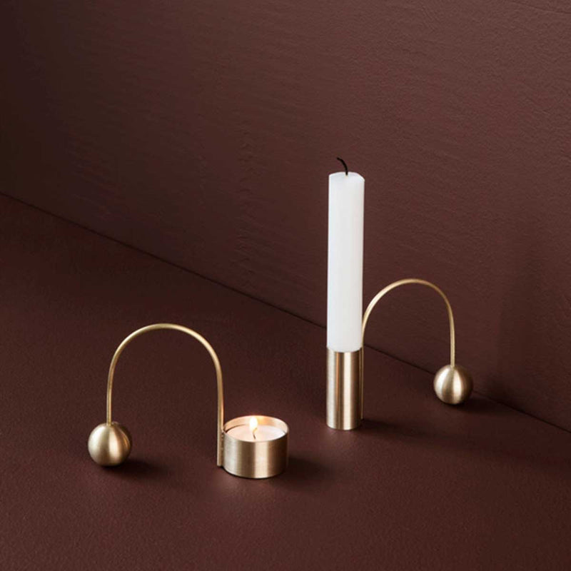 Balance Tealight Holder - Brass