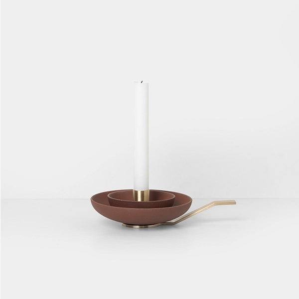 Around Candle Holder - Rust