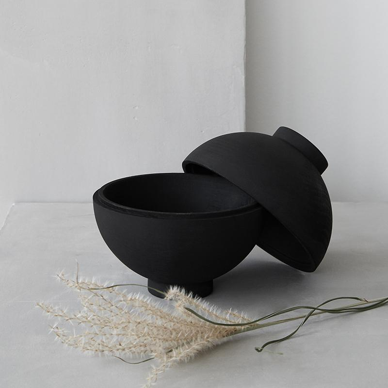 Wooden Sphere – Black