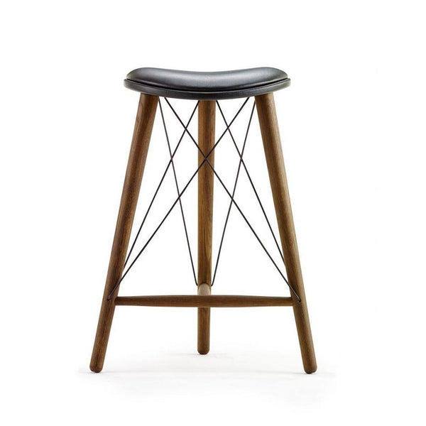 Thule stool - walnut / black