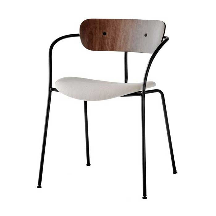 PAVILION CHAIR WITH ARMRESTS AV4 - UPHOLSTERED