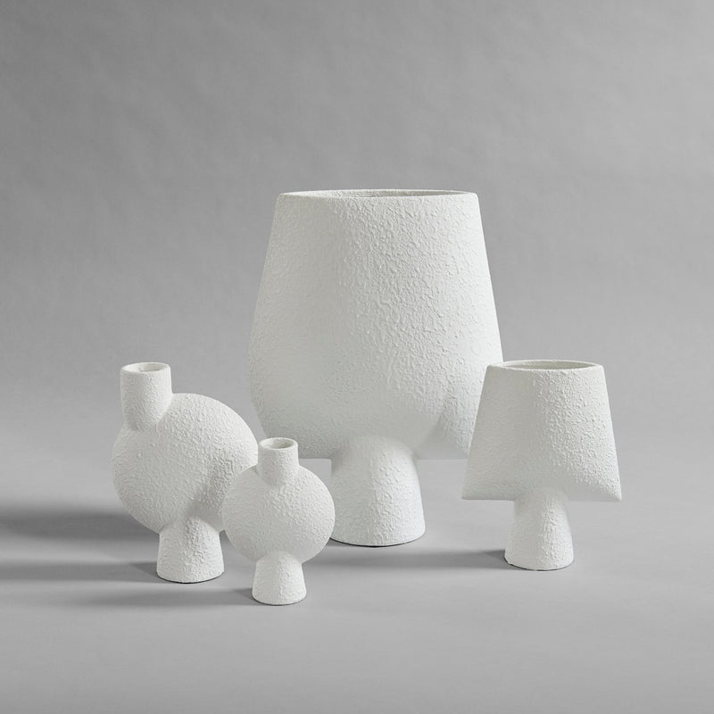 Sphere vase square- mini - white