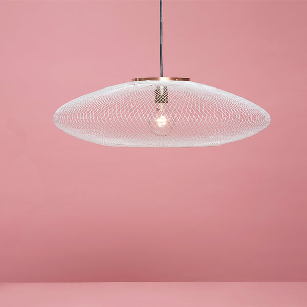 FIBER PATTERN LAMP (CHALK WHITE)