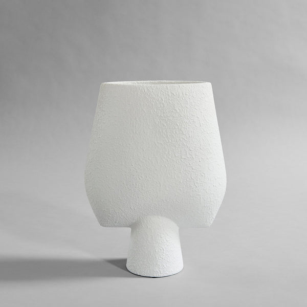 Sphere vase square- big - white