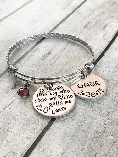 Boy mom - Bracelet for mother of boys - Hand