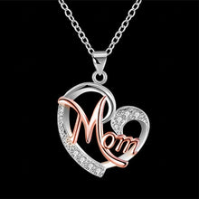Load image into Gallery viewer, Heart Mom Necklace - The Mommy Shoppe