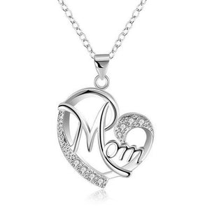 Heart Mom Necklace - The Mommy Shoppe