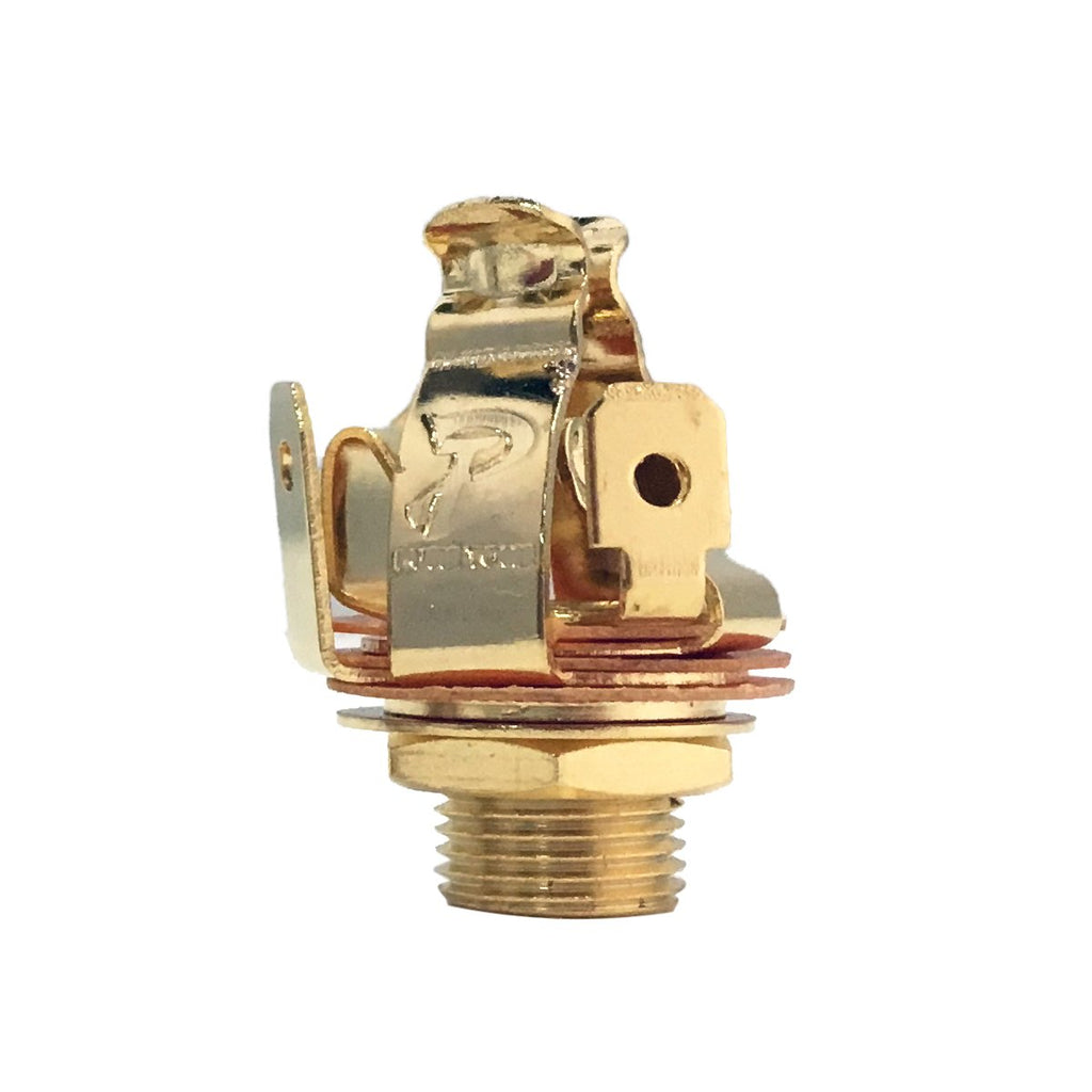 STEREO Pure Tone Multi-Contact 1/4″ Output Jack Gold - AP Intl