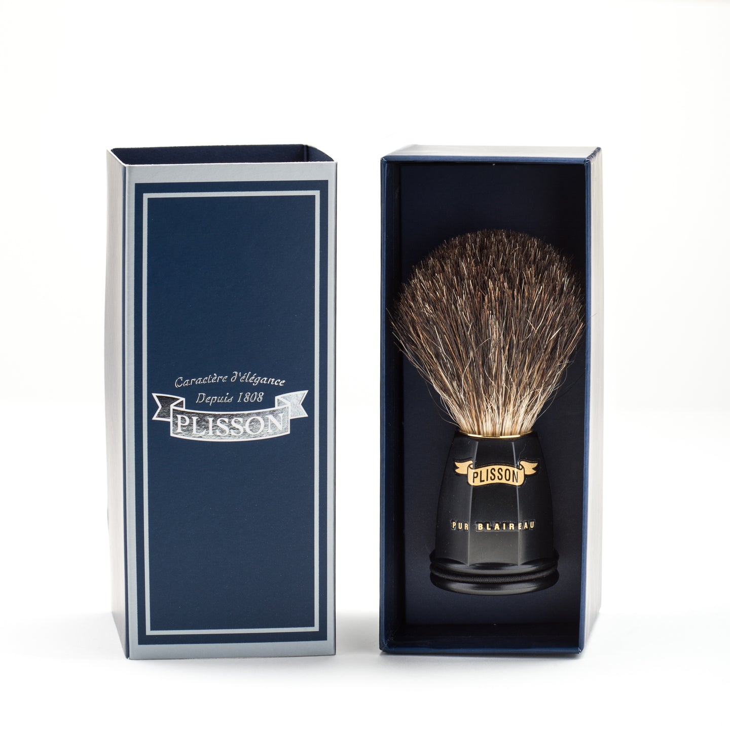 shaving brush - blaireau - Plisson - PETITS TRESORS DE FRANCE