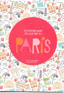 paris souvenir travel book for children