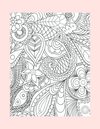 Coloring Page 14 Relaxing Design G - Self Care Pursuit