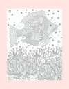 Coloring Page 15 Single Fish in Ocean - Self Care Pursuit
