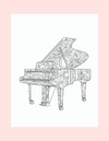 Coloring Page 18 Elegant Piano - Self Care Pursuit